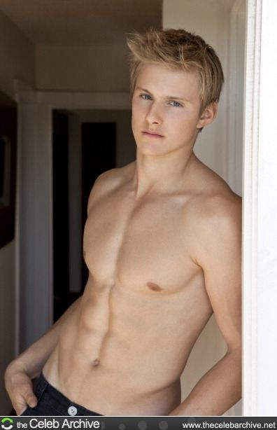 A cute blond guy naked