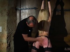 Girl tied up and spanked
