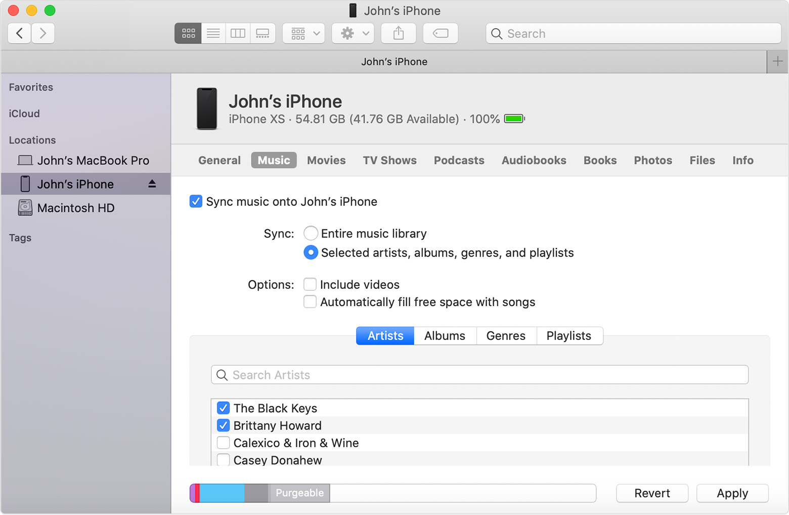 How to sync iphone with new music app