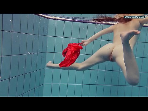 Sexy girl in pool naked